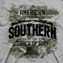 Load image into Gallery viewer, American by Birth Patriotic Cotton Tee MEN