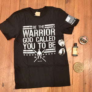 Be A Warrior Patriotic Cotton Tee MEN