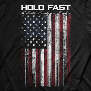 Hold Fast Flag Patriotic Cotton Tee MEN