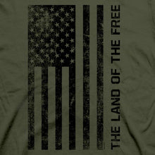 Load image into Gallery viewer, Land of the Free Patriotic Cotton Tee MEN