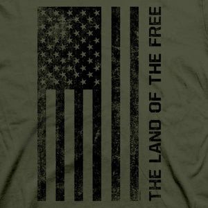 Land of the Free Patriotic Cotton Tee MEN