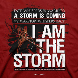 I am the Storm Patriotic Cotton Tee MEN