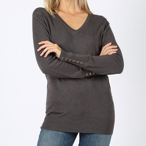 My Kind of Sweater Viscose Sweater in Gray