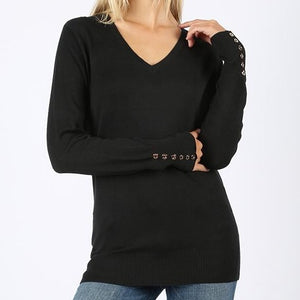 My Kind of Sweater Viscose Sweater in Black