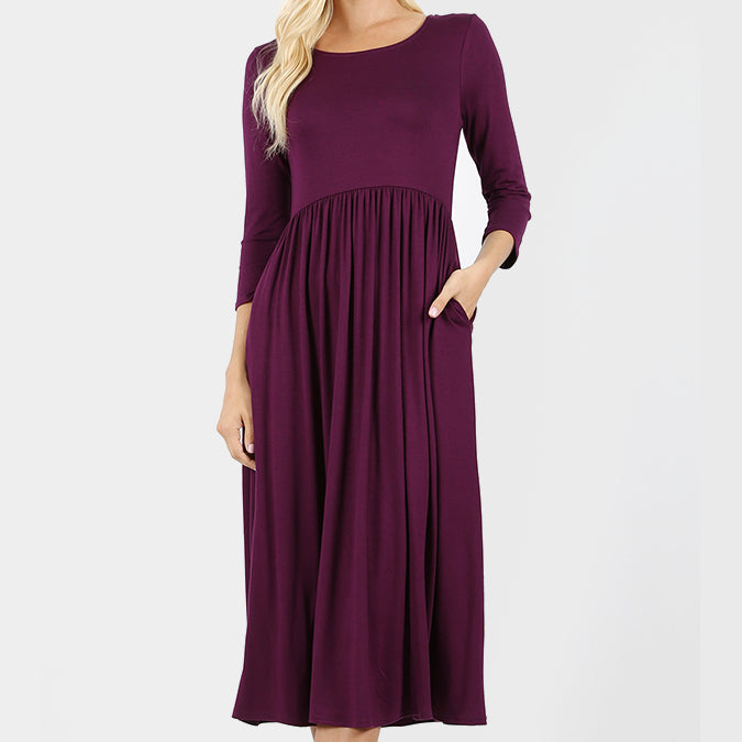Plum Viscose Dress
