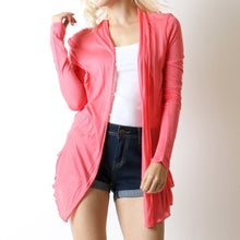 Load image into Gallery viewer, Coral Flyaway Cardigan