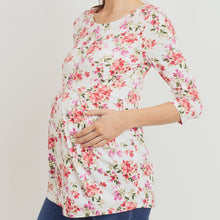 Load image into Gallery viewer, Floral Dreams Pleated Top MATERNITY