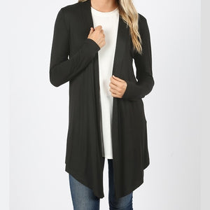 Wear With All Cardi Draped Cardigan in Black PLUS