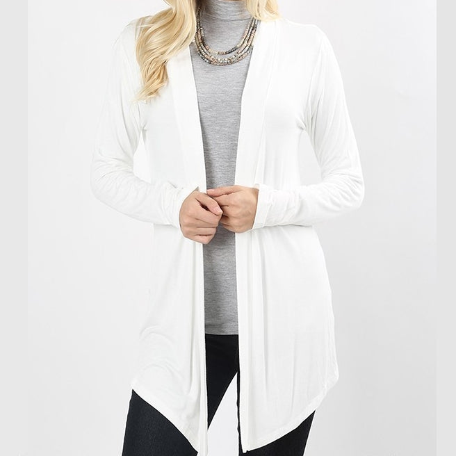 Wear With All Cardi Draped Cardigan in Ivory PLUS
