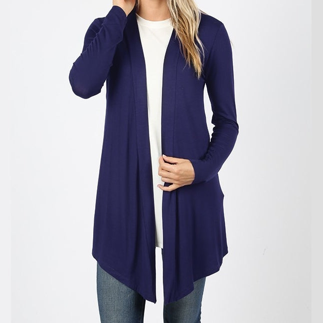 Wear With All Cardi Draped Cardigan in Navy