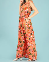 Load image into Gallery viewer, Ray of Sunshine Bubble Crepe Maxi in Coral