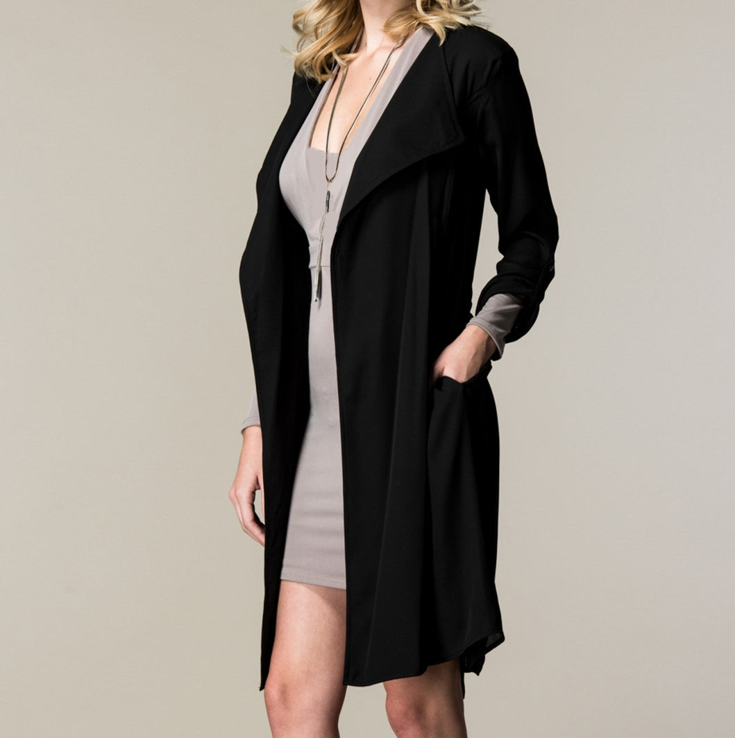 C'est Si Bon Trench Coat in Black
