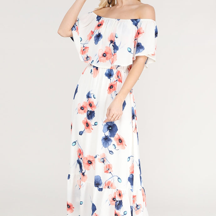 Beautiful Day Floral Maxi Dress