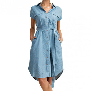 Feeling Good Button Up Shirt Dress