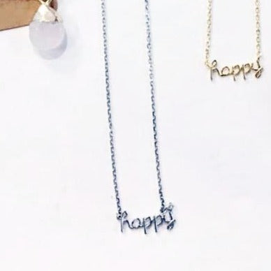 You're My Kind of Happy Necklace in Silver