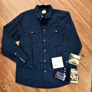 Pearl Snap Western Shirt in Navy MEN
