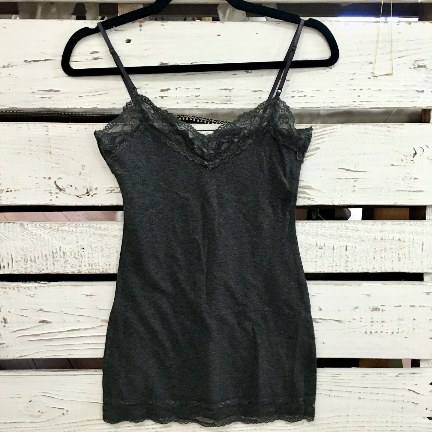 It Had to be You Lace Camisole in Charcoal
