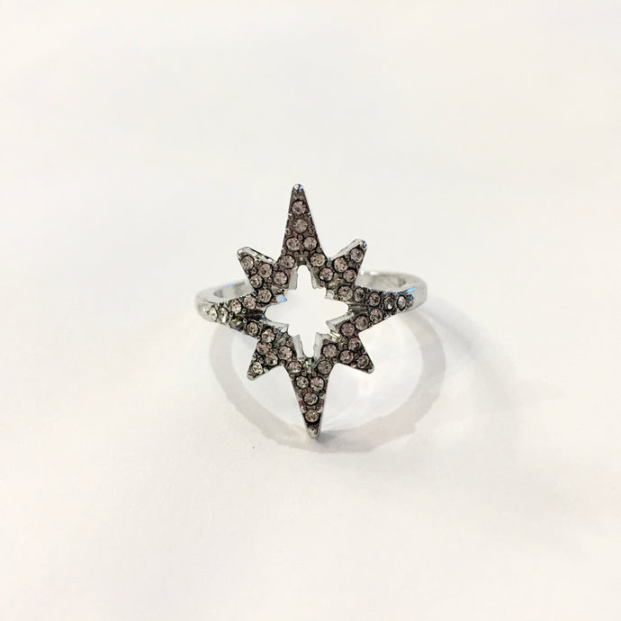 I See Fireworks Adjustable Ring in Silver