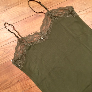 It Had to be You Lace Camisole in Dark Olive PLUS