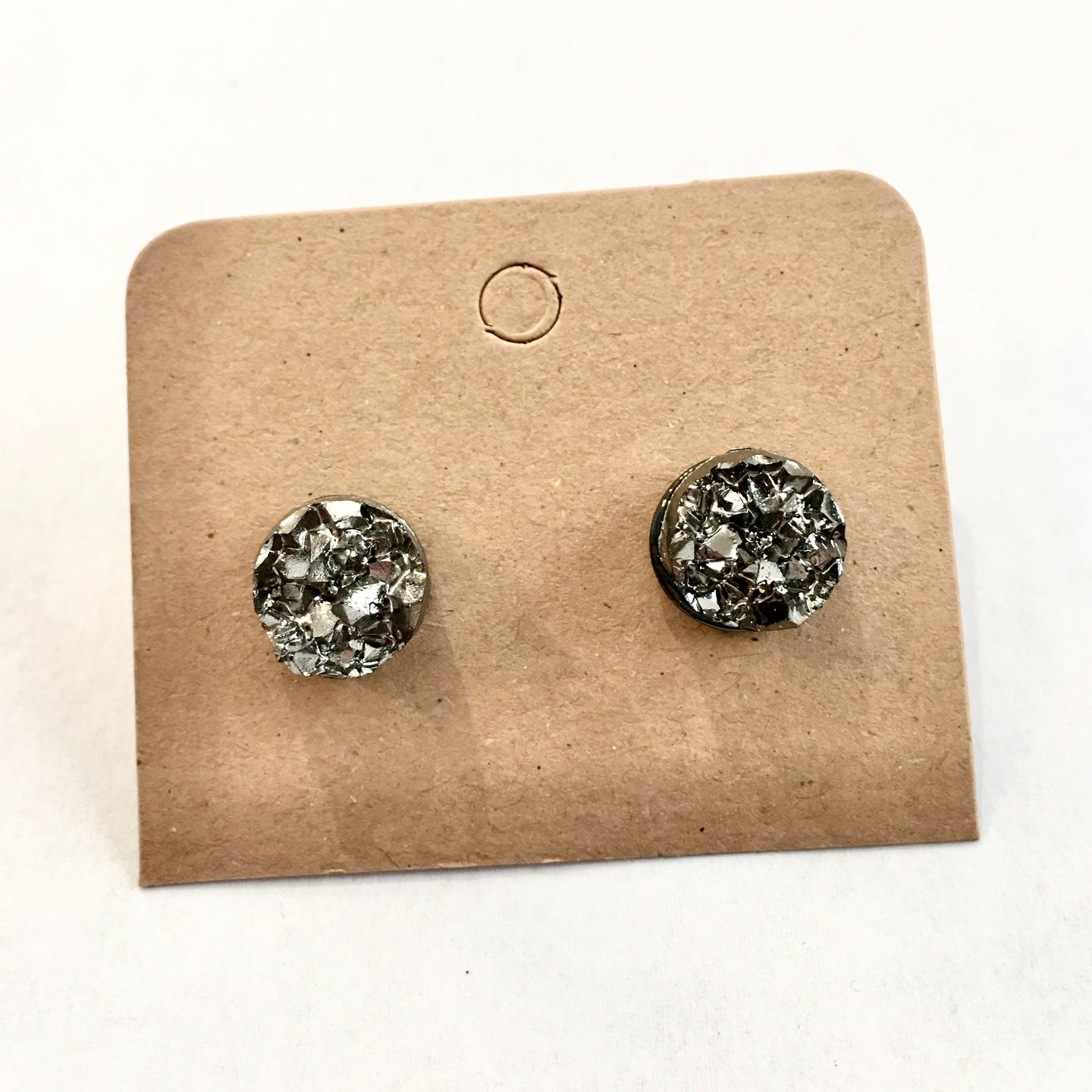 Just the Facts Druzy Post Earrings