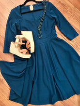 Load image into Gallery viewer, Best Dress Award Fit and Flare Dress in Teal PLUS