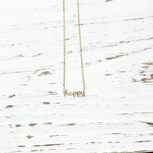 You're My Kind of Happy Necklace in Gold