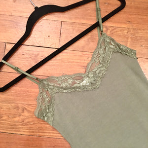 It Had to be You Lace Camisole in Light Olive
