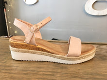 Load image into Gallery viewer, Stepping Out Platform Sandals in Blush