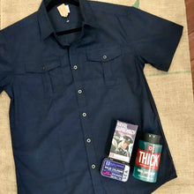Load image into Gallery viewer, Clark Kent Standard Button Up in Navy MEN