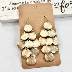 Shimmering Tiered Earrings