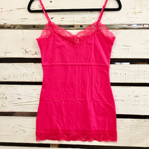 It Had to be You Lace Camisole in Bright Pink