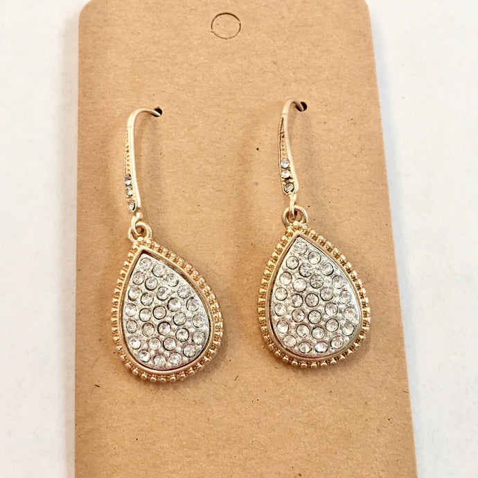 Crown Jewel Rhinestone Dangle Earrings