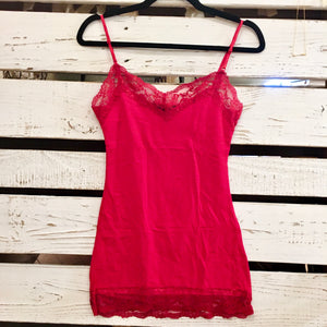 It Had to be You Lace Camisole in Dark Red