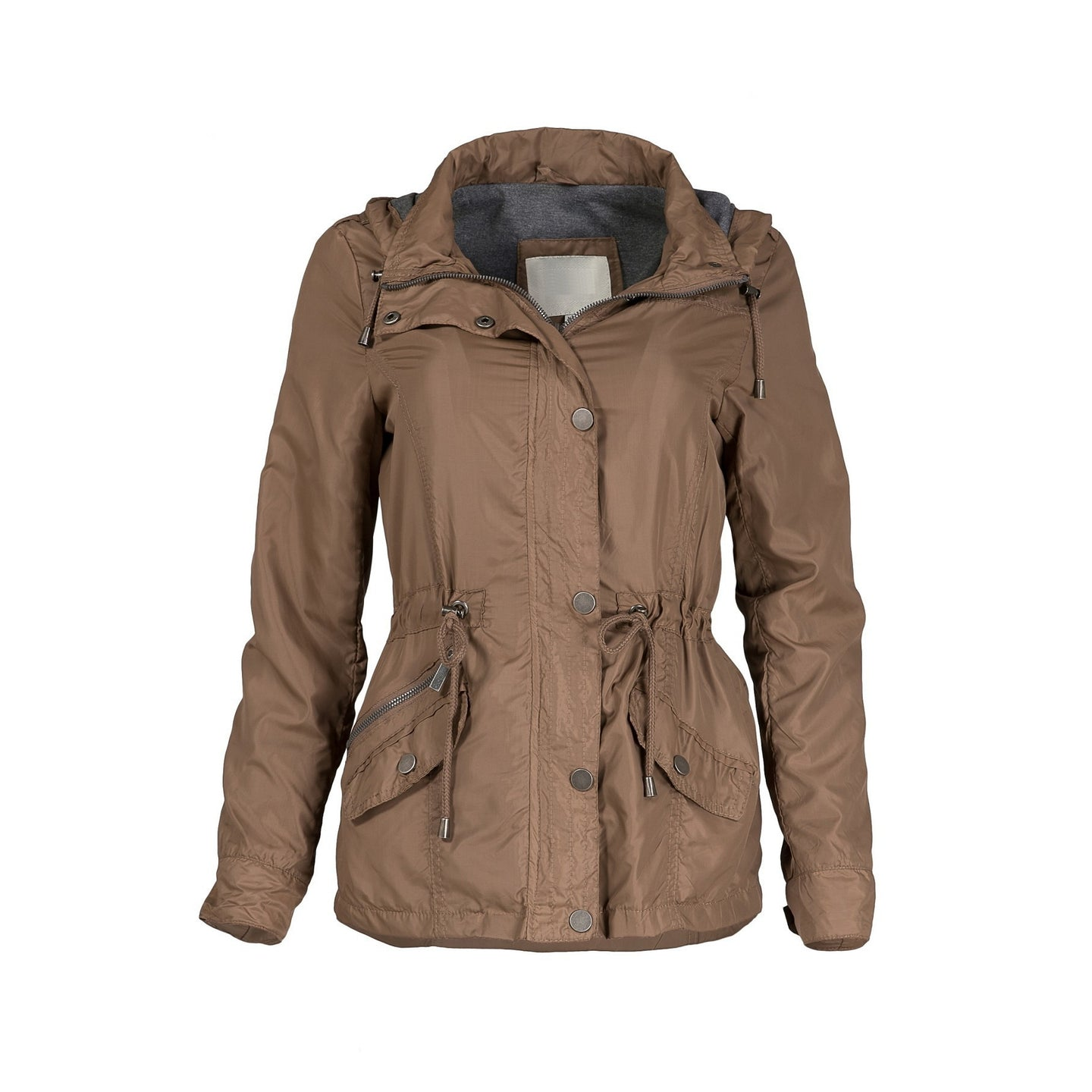 Carolina Girl Lined Windbreaker Jacket in Brown PLUS