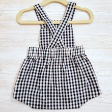 Load image into Gallery viewer, Baby Boy Gingham Nautical Romper