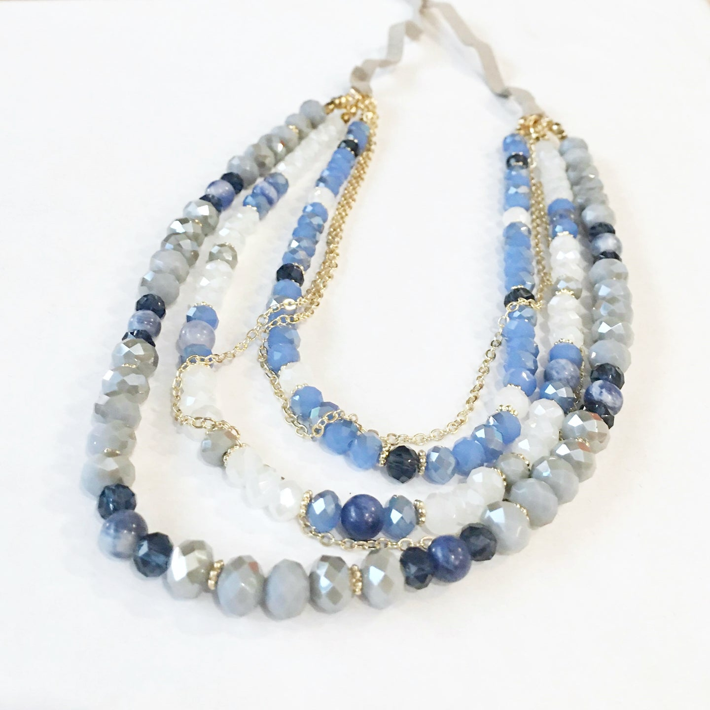 Oceans Blue Adjustable Necklace