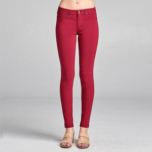 Looking Fabulous Skinny Stretch Pants in Red