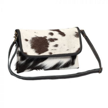 Load image into Gallery viewer, Ebon Crossbody Bag Cowhide Purse by MYRA