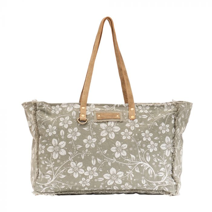 Green Chalky Weekender Bag by MYRA