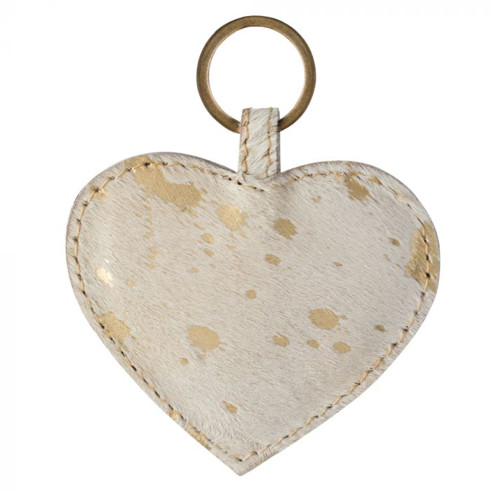 Gold Foil Leather Key Charm by MYRA