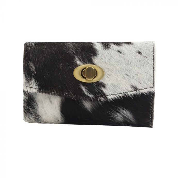 Fudge Factor Leather and Hairon Wallet by MYRA
