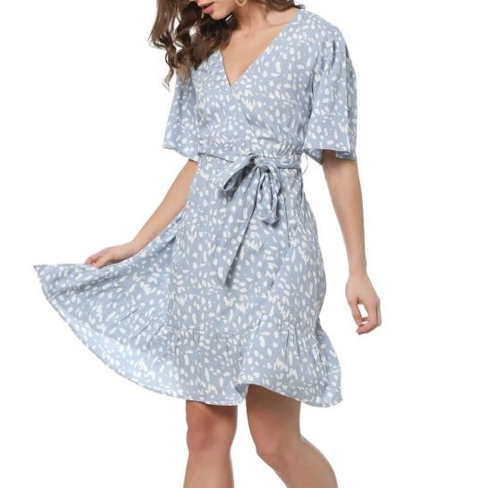 Beautiful Day Faux Wrap Dress