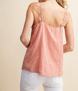 I Love Paris Button Down Camisole