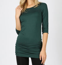 Load image into Gallery viewer, Green Shirred Tunic Top