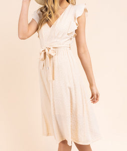 It's a Date Dress in Beige