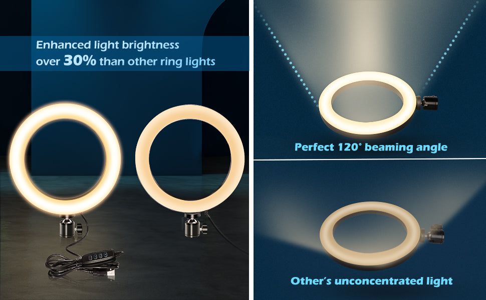 """Selfie Ring Light with Tripod Stand & Cell Phone Holder for Live Stream/Makeup, Stand Led Camera Ringlight for YouTubers, or Gamers that love to stream the Fortnite tournament or Apex legends match 10"""" Selfie Ring Light with 50""""/10.2"""" Selfie Ring. is the best-LED Ring in the market."""