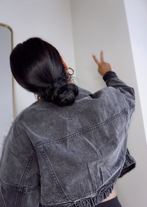 Alina Denim Jacket | Charcoal