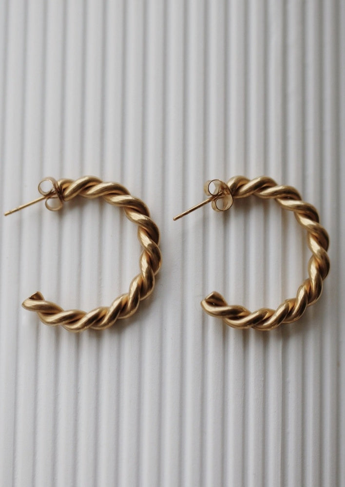 May Martin Sarah Hoops | Gold Dipped