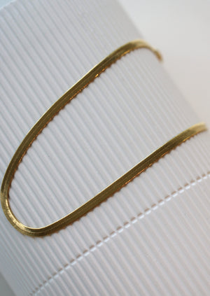 KW Herringbone Chain | Gold