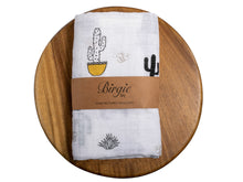 Load image into Gallery viewer, Muslin Swaddling Breathable Multi Use Blanket- Cute Cactus - Birgie Home